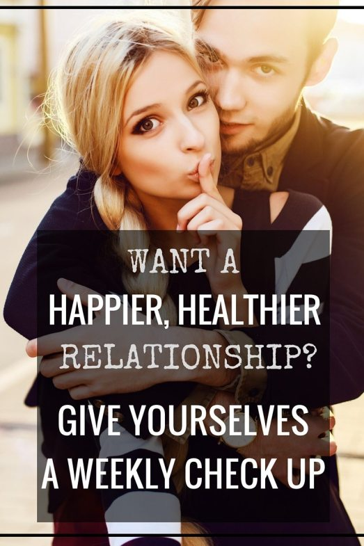 Want a happier, healthier relationship? Give yourselves a weekly check up! Start with gratitude, then discuss your needs. Every couple needs a safe, regular place to talk about the hard stuff and prevent fights before they happen! Click through to learn how to conduct a weekly marriage check in xoxox