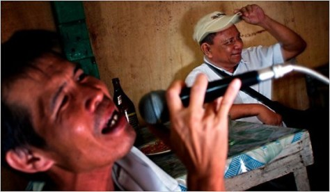Karaoke always makes Filipinos happy