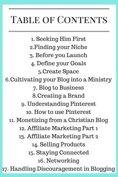 Table of Contents: By His Grace We Blog ebook