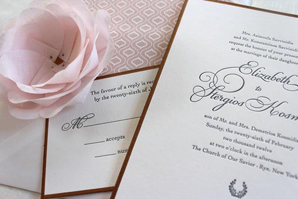 Letterpress Wedding Invitations In