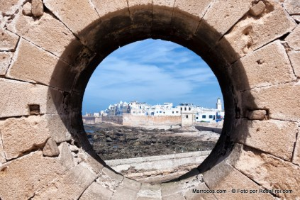 Vista da cidade de Essaouria desde o porto