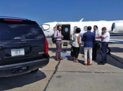 Grace DeNiro departing Atlantic Aviation in Newport News, VA