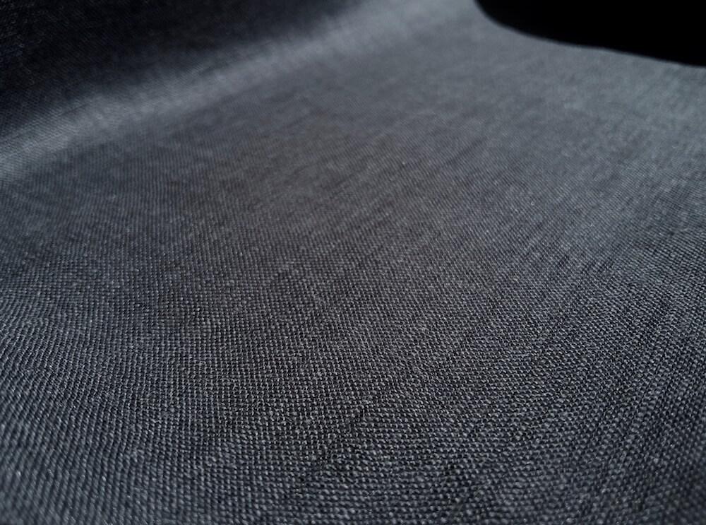 tissu lin oeko tex gris fonce plomb