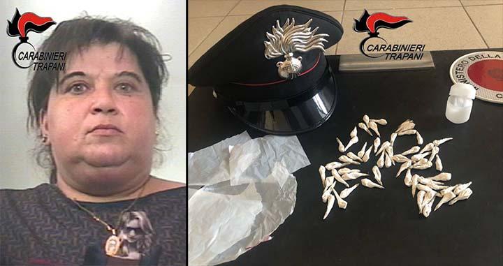 Marsala: trovata in possesso di 57 dosi di eroina, marsalese arrestata dai carabinieri
