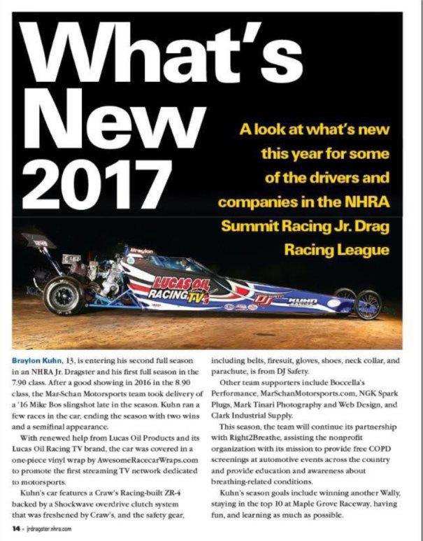 Kuhn Racing jr Dragster Jr Dragster Magazine