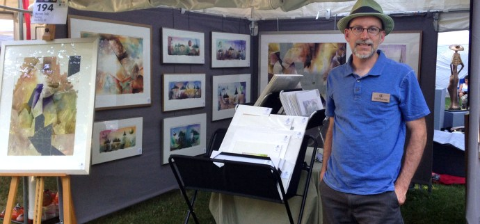 artist Todd Marsee at the Crosby Festival of the Arts, 2016