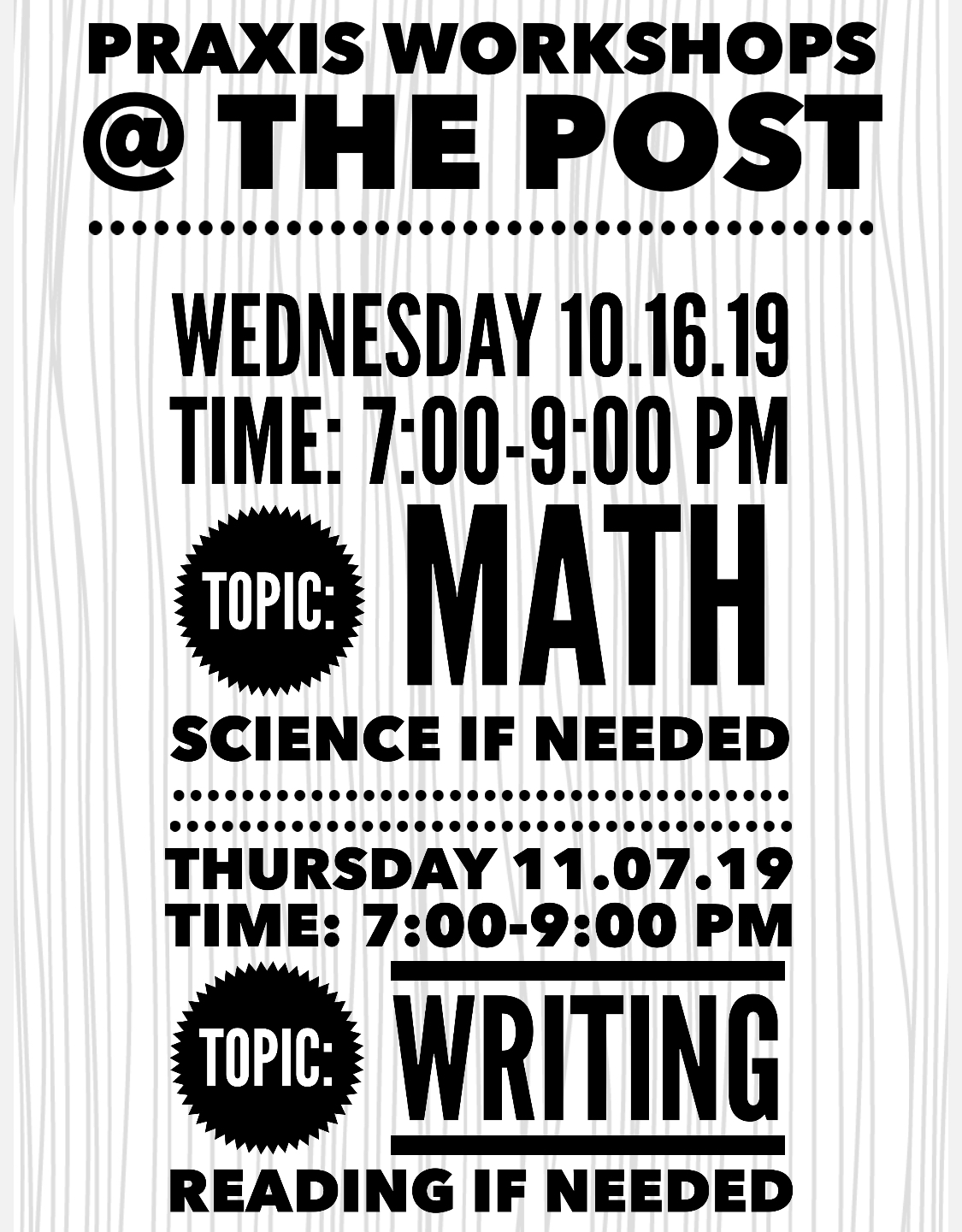 The POST (Praxis or Student Tutoring)