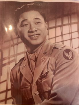 Alumnus Hiram Kwan as a young man during WWII