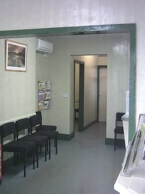 Waiting room viewed from the in door