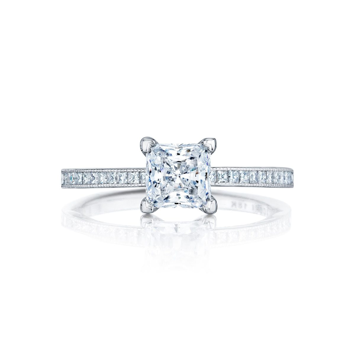 Tacori Sculpted Crescent Princess Cut Diamond Engagement