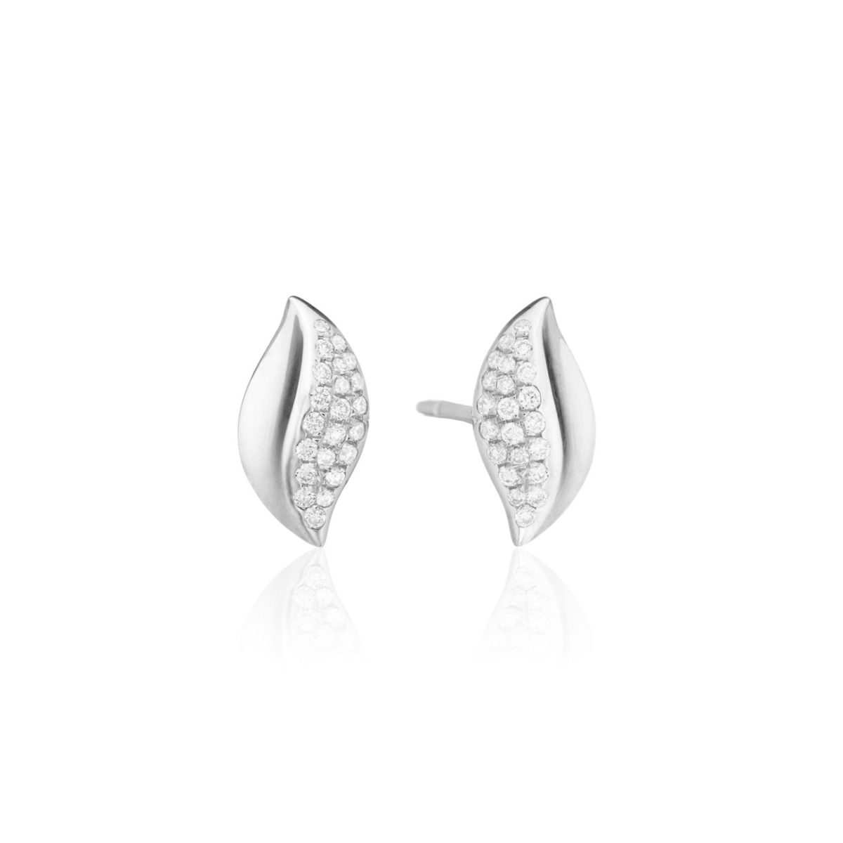 Graymoor Lane Solstice Diamond Stud Earrings In White