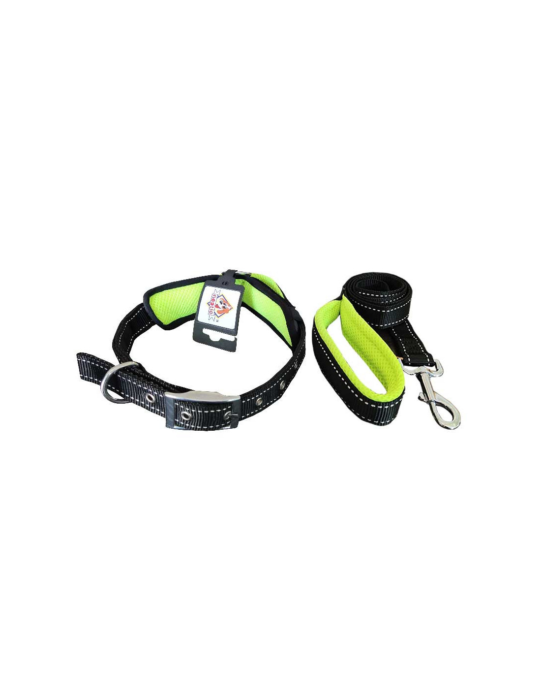 Nootie Mesh Green Collar Amp Leash Set For Dog At The Best