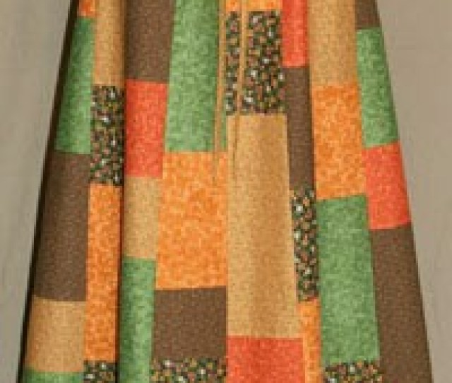 Fall Colors Random Patchwork Skirt