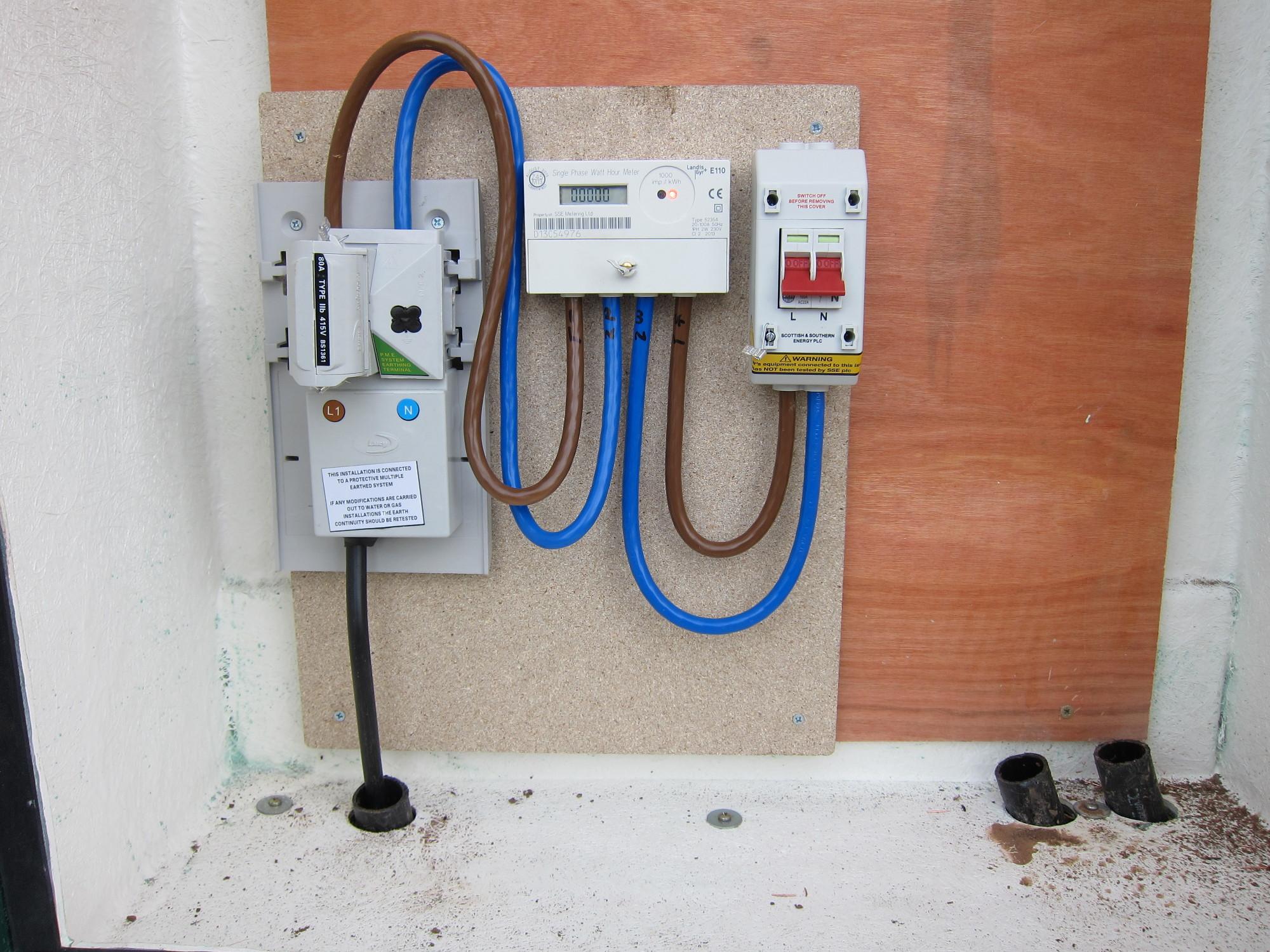 Caravan Mains Wiring Diagram Electricity Supply Re Installation Marsh Flatts Farm
