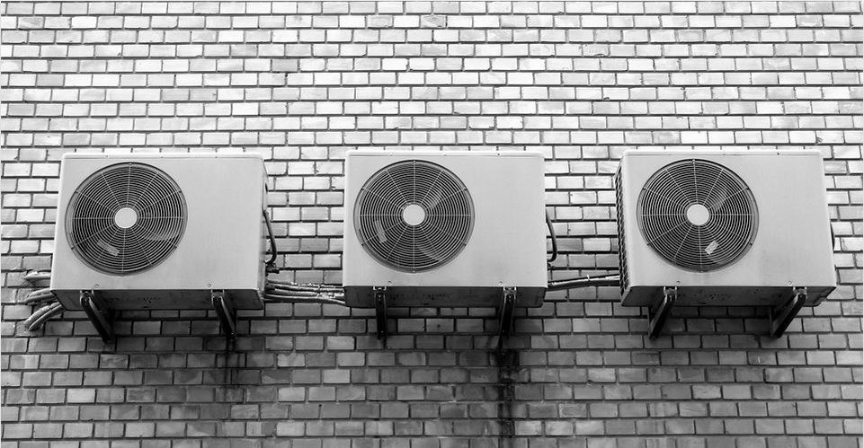 air con units on a wall