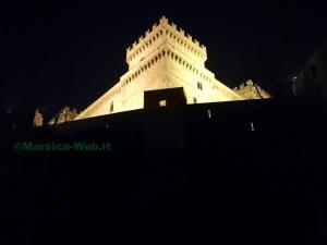 castello celano notte
