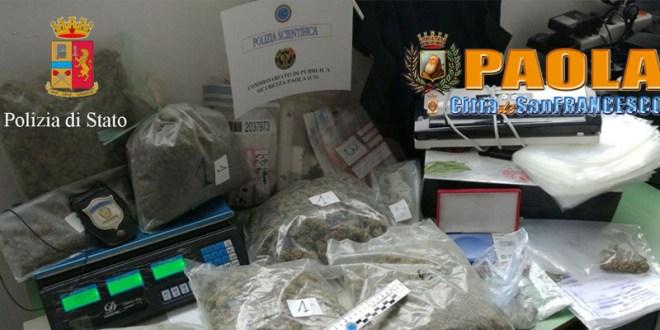 arresti droga paola