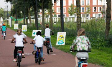 fietsende oogtest