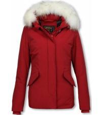 style italy matogla-winterjassen-dames-winterjas-wooly-kort-gr