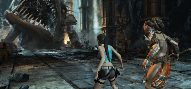 lara croft tomb raider guard of light gry dla pary dwójki dwóch osób w co pograć z dziewczyną chłopaki