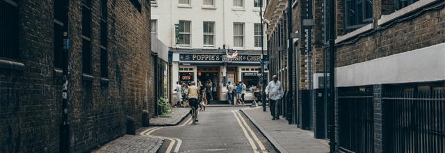 uliczka droga miasto zagranica rower