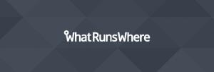 WhatRunsWhere logo