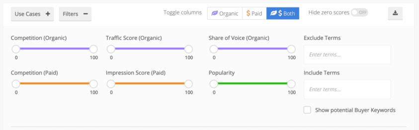 alexa Site Keywords filter
