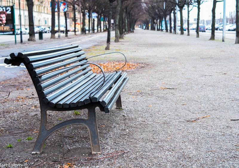 Stockholm, Sweden, Švédsko, lavička [Mart Eslem]