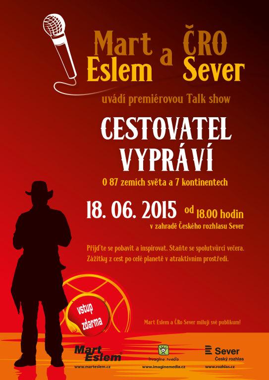 Mart Eslem - plakát k besedě v ČRo Sever
