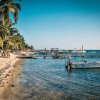 Ráno na pláži, San Pedro, Ambergris Caye, Belize (Mart Eslem)