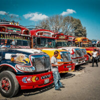 Stanoviště autobusů, Antigua Guatemala (Mart Eslem)