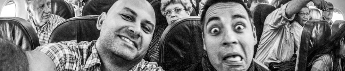 David Surý v letadle (Mart Eslem)