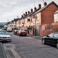 Typická architektura západního Belfastu (Mart Eslem)
