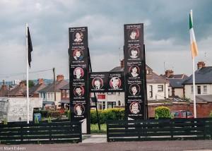 Památník obětí protestní hladovky v západním Belfastu (Mart Eslem)