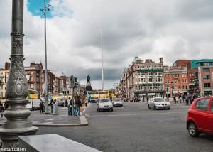 Okolí O´Connell Bridge v Dublinu (Mart Eslem)