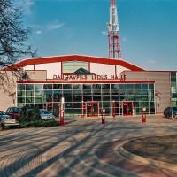 Moderní hokejová hala v litevském Daugavpils (Mart Eslem)