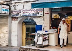 Průčelí lázní Gedikpasa v Istanbulu (Mart Eslem)