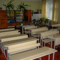 Interiér školních tříd v Koločavě (Mart Eslem)