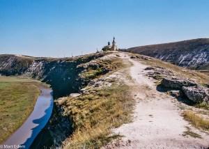 Skalnatý hřbet nad řekou Prat (Mart Eslem)