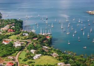 Grenada z okénka letadla (Mart Eslem)