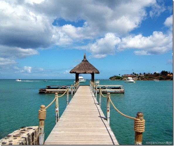 jetty in Mauritius