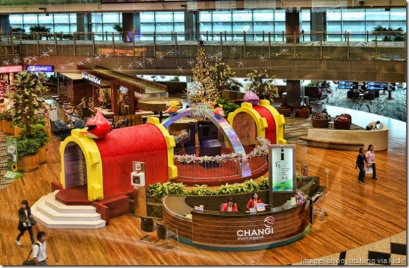 Changi Airport, Singapore Christmas decorations