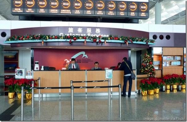 Christmas decorations at Hong Kong airport
