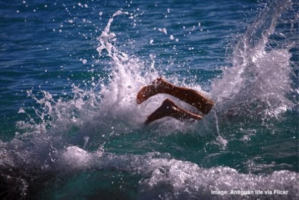 Antigua swimming