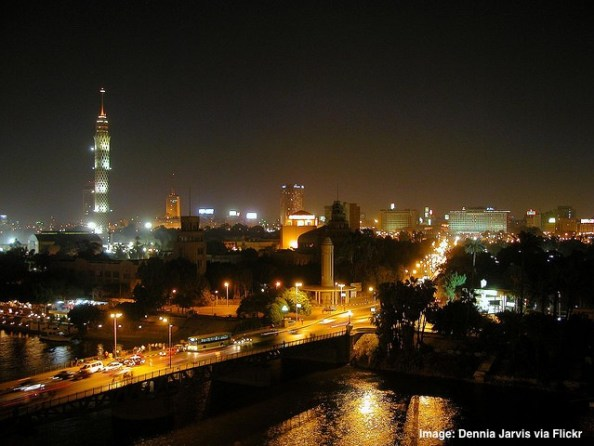 Cairo Egypt at night