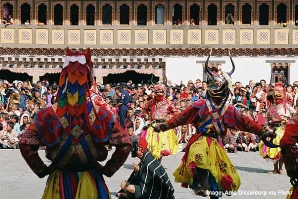 Bhutan Thimphu Tashi Cho Dzong Thimphu Tsechu