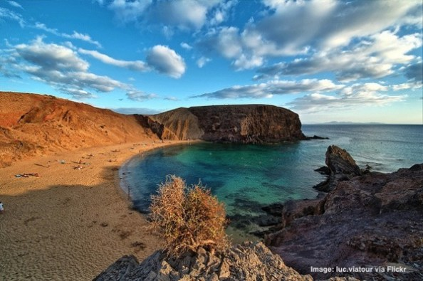 Beach in Lanzarote Canary Islands Spain