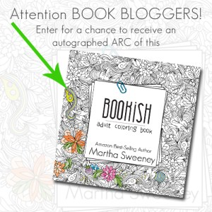 Attention Bloggers enter for a chance to get an ARC copy of Bookish: Adult Coloring Book by Martha Sweeney