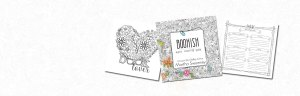 Bookish Adult Coloring Book by Amazon Best Selling Author Martha Sweeney