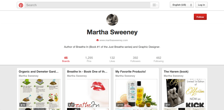 Connect with Martha on Pinterest